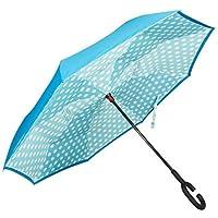 Golden Lemur Paraguas Invertido. Paraguas Originales Mujer