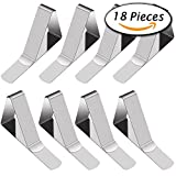 #1: PAXCOO 18 Packs Tablecloth Clips Stainless Steel Outdoor Picnic Table Skirt Cloth Holder Clamps