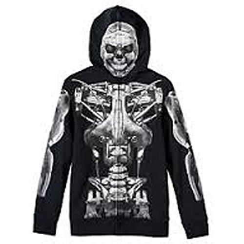 [Tony Hawk Long Sleeve Costume Hoodie - Boys 8-20 (Small)] (Boys Skeleton Sweatshirt Hoodie Costumes)
