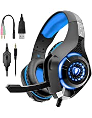$21 » Fengyamei Gaming Headset with mic for PS4, Xbox One Controller, PS3,PC, Laptop, Nintendo Switch, Mac, Over Ear Headphones with Noise Cancelling Mic, LED Light, Stereo Bass Surround, Xbox One Headset