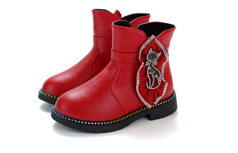 satisfied Girls Leather Boots Cute Decorative Princess Winter Boots