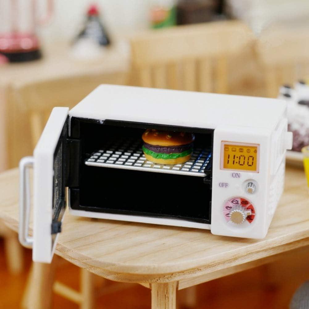 DishyKooker Mini Horno microondas Blanco con Muebles de luz Juguete para casa de muñecas 1:12: Amazon.es: Hogar