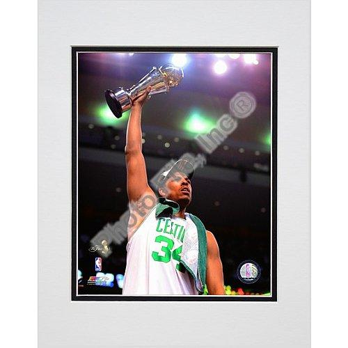 Photo File Boston Celtics Paul Pierce 2008 Finals MVP Trophy 8x10 Matted Photo