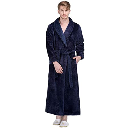 4660f3609b Bathrobe Men Dressing Gown Towelling Terry Fluffy Boy Luxury Long Plus Size  Pyjamas For Spa Bath