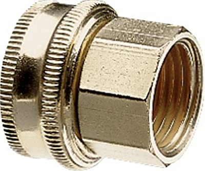 Nelson Industrial Brass Pipe and Hose Fitting with One Swivel for 1/2-Inch Male NPS to Male Hose, Double Female 50575