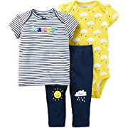Carter's Baby Girls' 3 Piece Little Character Set 6 Months Blue/Yellow