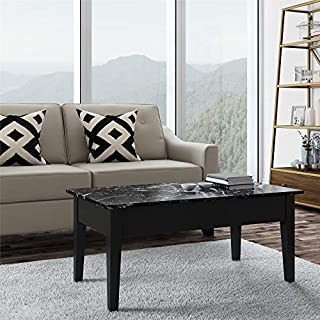 Dorel Living Faux Marble Lift Top Storage Coffee Table, Black (B00TO4IEYM)   Amazon Products