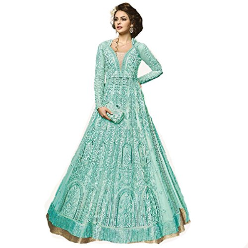 ziya Indian Wear Anarkali Suit Party Wear Zoya 2 (Sky Blue, XS-36) by ziya