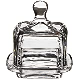 Abbott Collection Home 27-Churn Small Square Covered Dish, Clear