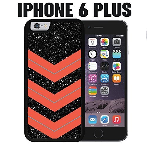iPhone Case Space Chevron for iPhone 6 PLUS Plastic Black &hong hong customize (Speck Iphone 5c Case Space compare prices)