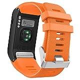 Garmin Vivoactive HR Watch Band - MoKo Soft Silicone Replacement Watch Band ONLY for Garmin Vivoactive HR Sports GPS Smart Watch with Adapter Tools - ORANGE