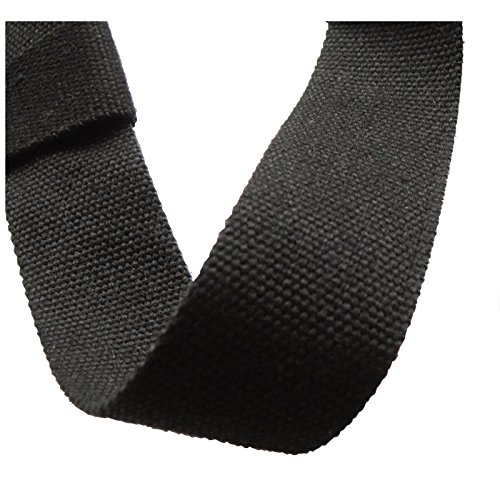 "Najae Yoga Strap Adjustable SGS Approved Extra Length 68"" (172cm) Durable Cotton Carrying Sling (Black, 58 inch)"
