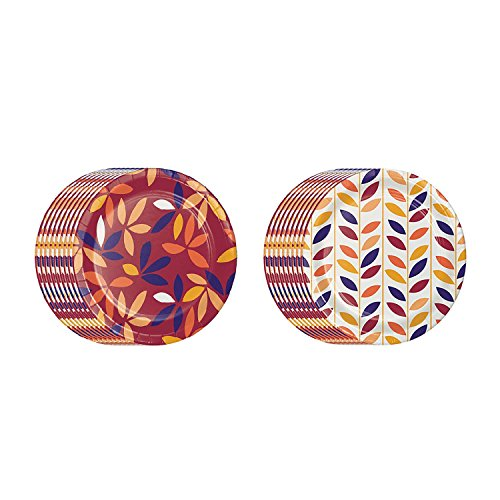 Members Mark Fall/Autumn Jewel Jam Disposable Paper Plates 10.25