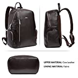 BOSTANTEN Leather Backpack School Laptop Travel