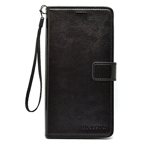 Bracevor Xiaomi Redmi Note 3 Flip Cover :Inner TPU, Premium Leather Case, Wallet Stand – Executive Black