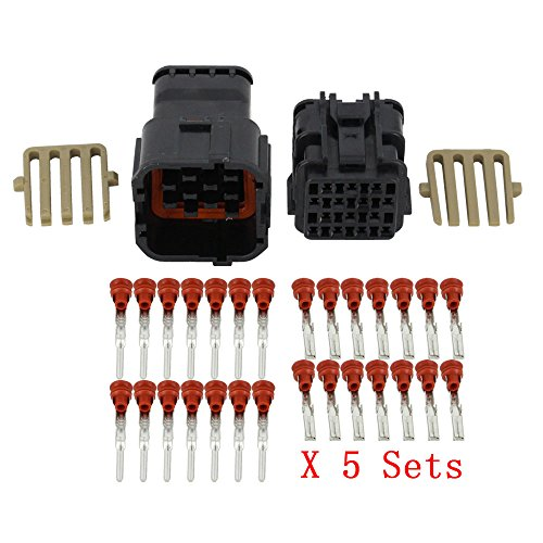 CNLW 5 Sets 14 Pin Male and Female Waterproof Car Connector Wire Harness Connector Terminal DJ7141Y-2-11/21: