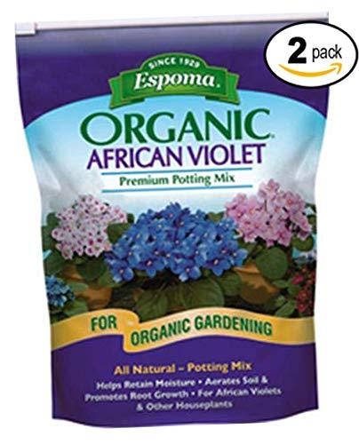 Espoma AV4, Organic African Violet Potting Mix, 4-Quart (2)