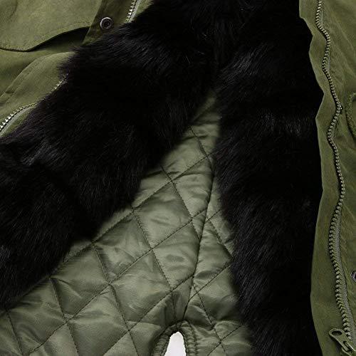 Manica Prodotto In Cappotti Trapuntata Giacca Casual Invernali Donna Estilo Especial Sciolto Collo Schwarz Plus Pelliccia Giacche Confortevole Pulsante Fashion Lunga Autunno Cappotto wHXqvX6