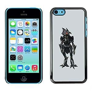 Be Good Phone Accessory // Dura Cáscara cubierta Protectora Caso Carcasa Funda de Protección para Apple Iphone 5C // Evil Robotic Chicken