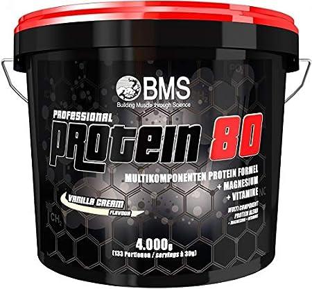 BMS Professional Proteína 80, 4000 g Cubo, Vanilla Cream ...