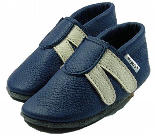 Brancas Com Puschen Sapatos Couro Alemanha De Da Qualidade Azul Artesanal O Mopu's® Marca Olhar Rastejando Tênis Listras 8vtA5wq