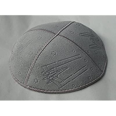 Gift Idea for a Jewish Person - Grey Suede Kippah with Embossed Design Star Wars, Yarmulkes with Star Wars Spacecraft: Toys & Games