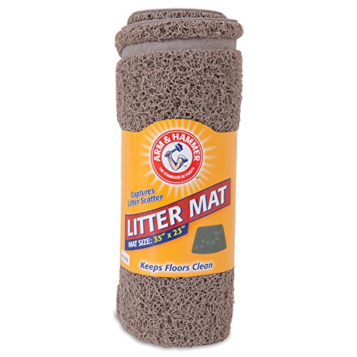 Arm Amp Hammer Wedge Shape Litter Mat With Paw Design
