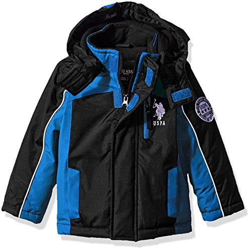 US Polo Association Toddler Boys' Outerwear Jacket (More Styles Available), UB99-Stadium-Black, 2T