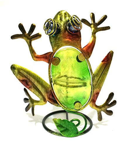 - Bejeweled Display® Beautiful Frog w/ Stain Glass Candle Holder & Home Decor w/ Gift Box