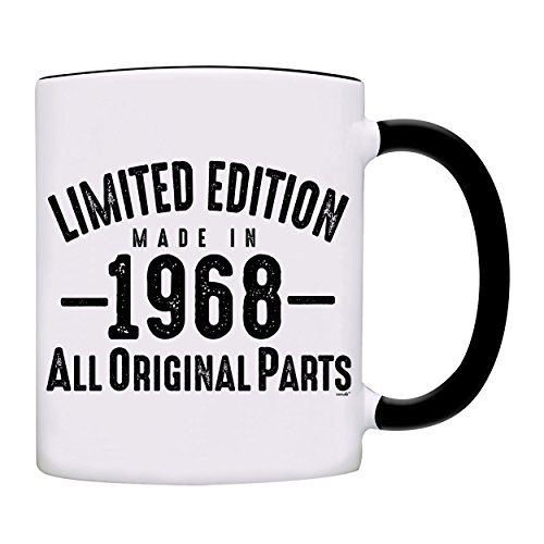 Mug 1968-50th Birthday Gifts Limited Edition Made In 1968 All Original Parts Coffee Mug-1968-0072-Black