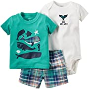 Carter's 3 Piece Graphic Set, Whales, 6 Months