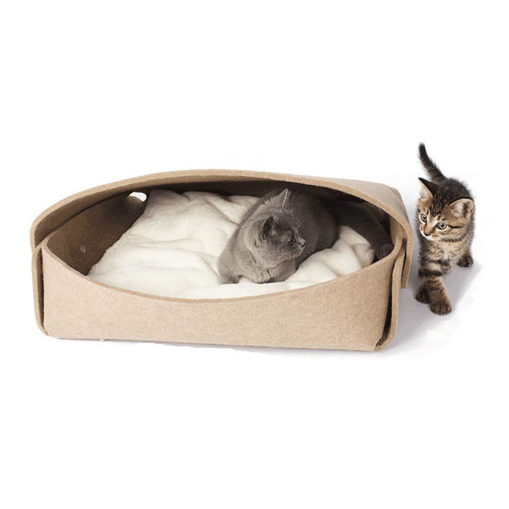 in linea JXLBB Borsa per documenti Lettiera per gatti Lettiera per per per gatti in feltro Stagione autunnale estiva disponibile Cat House Cat Supplies Gattino Big Comfort Pad Creativo Paper Bag Cat Litter  vendita all'ingrosso