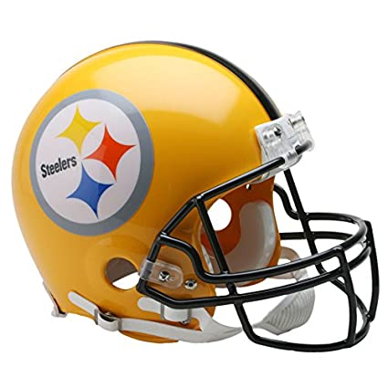 1a82d4166 Image Unavailable. Image not available for. Color  Pittsburgh Steelers Gold  2007 Officially Licensed Authentic Throwback Football Helmet