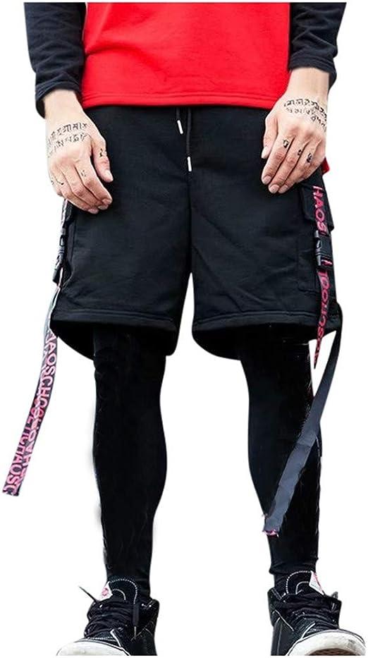 SELX Men Stretch Drawstring Waist Fashion Zip Trim Harem Trousers Jogger Pants