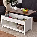 Coffee Table Wood Top Casart Coffee Table Lift Top Wood Home Living Room Modern Lift Top Storage Coffee Table w/Hidden Compartment Lift Tabletop Furniture