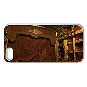 Theatre - Case Cover for iPhone 5 and 5S (Watercolor style, White)