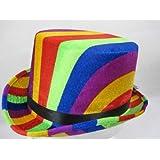 Top Hat Rainbow colours 61cm