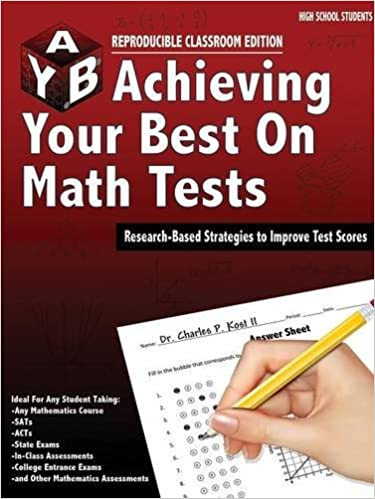 Book Achieving Your Best on Math Tests