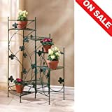 Tiered Plant Stand Planter Corner Rack Rustic Patio Unique Multiple Plants Pot Rack Metal Furniture & E book By Easy2Find