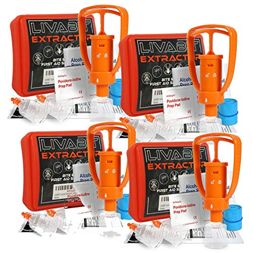 LIVABIT 4 x Venom Bite Poison Extractor Pump Emergency First Aid Kit Snake Bite