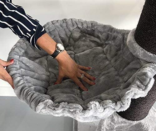 Rascador para gatos grandes Royalty PLUS Gris claro baratos arbol xxl maine coon gato adultos con hamaca gigante sisal muebles sofa escalador torre /Árboles rascadores cama cueva repuesto medianos