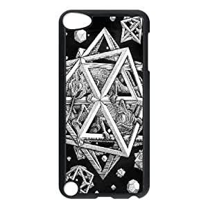 iPod Touch 5 Case Black ah71 mc escher space art illust lizard bw JSK691736