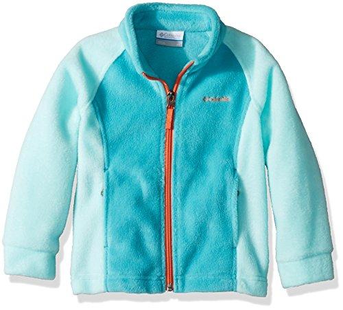 Columbia Toddler Girls' Benton Springs Fleece Jacket, Geyser, Candy Mint, 3T