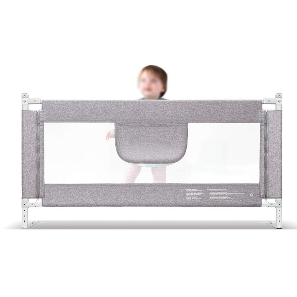 ベッドフェンス 幼児のベッドレール安全ガードレール、子供用の軽量高さ調節可能な超ロングフェンス女の子ボーイズ、高90 cm (色 : Gray, サイズ さいず : Length 200cm) Length 200cm Gray B07M98DHL7