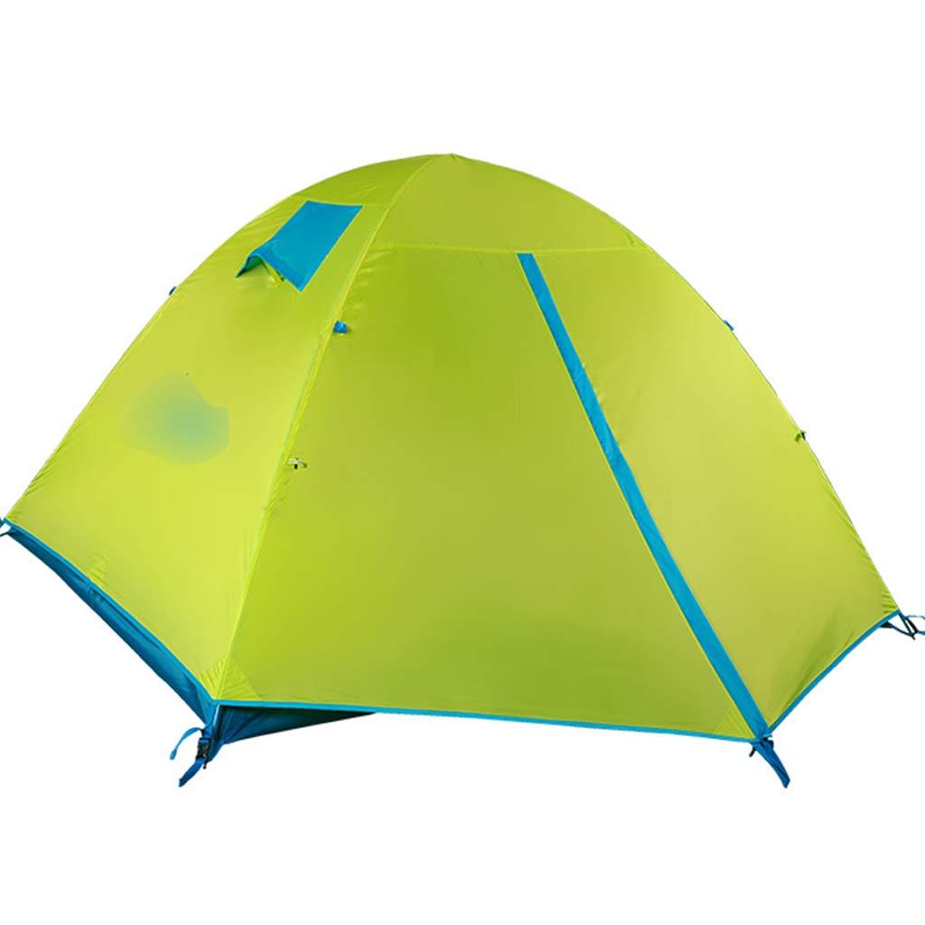 YaNanHome Doppeltes Windproof Regenzelt des Zeltes im Freien Vier Jahreszeiten Zelt Zelt des Zeltes mit 2-3 Völkern des Universums (Farbe : Grün, Größe : 210  180  125cm)