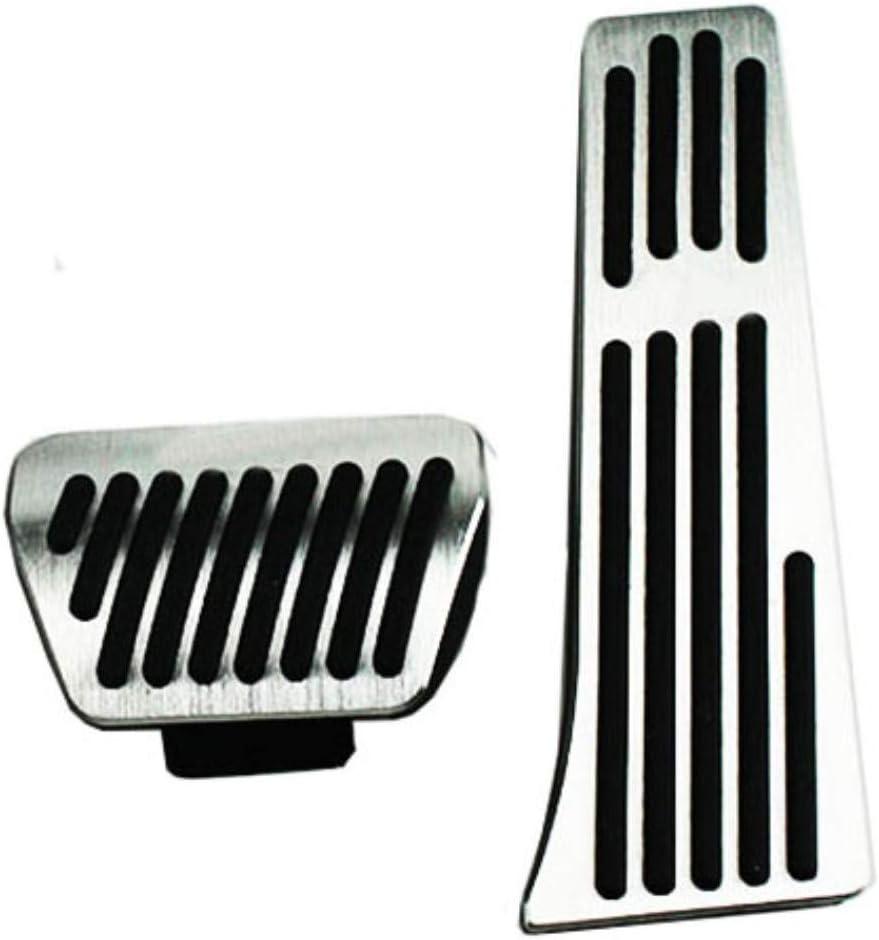 JJKCEA /Auto Edelstahl Auto Pedal Pads Pedalabdeckung F/ür BMW X5 X6 Serie E70 E71 E72 F15