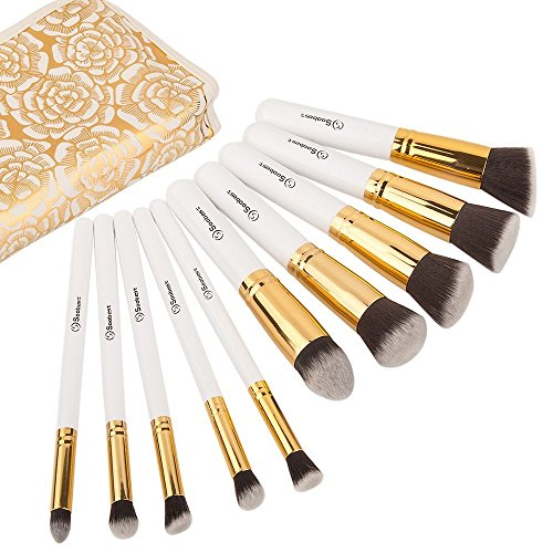 Soobest Makeup Brush Set (white +bag) by Soobest