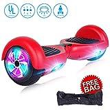 "JOLEGE Self Balancing Scooters for Kids 6.5"" Hoverboard Electric Smart Self Balancing Scooter Hoverboard Built-in LED Wheels Side Lights-UL2272 Certified (Red)"
