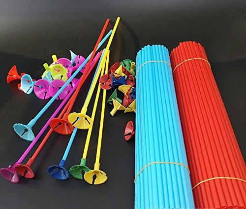 King's store ,Quality Mixed color Balloon Sticks with Cups balloos - And Stores A S