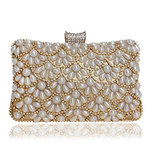 Art Deco Handbag - Beaded Women Shoulder Style Evening Bag Party Wedding Dinner Handbags YM1210gold